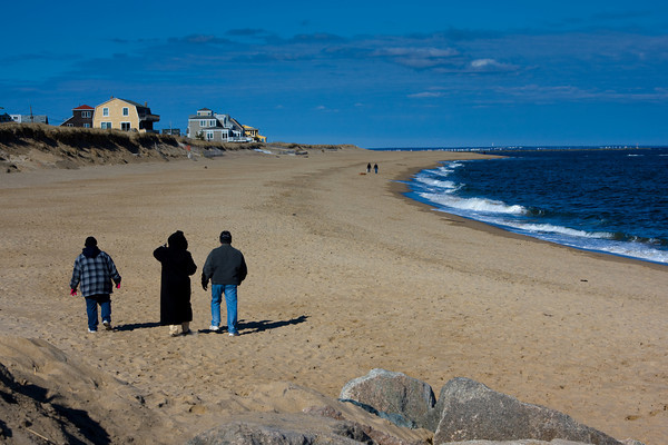 Beach Erosion on a Barrier Beach, Plum Island, MA