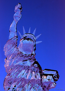 Liberty Ice Sculpture, Portsmouth First Night