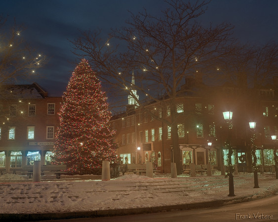 Christmas at Market Square, Newburyport MA