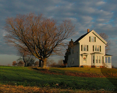 New England Farmhouse at Sunrise, West Newbury, MA