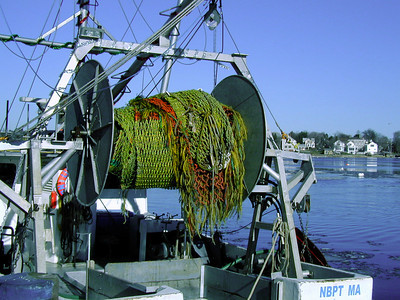 Rigging on a Commercial Fishing Boat, Newburyport MA