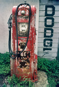 old gas pump Dodge dealer