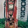old gas pump Dodge dealer