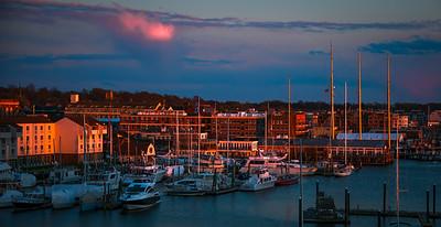 Newport's Evening Glow
