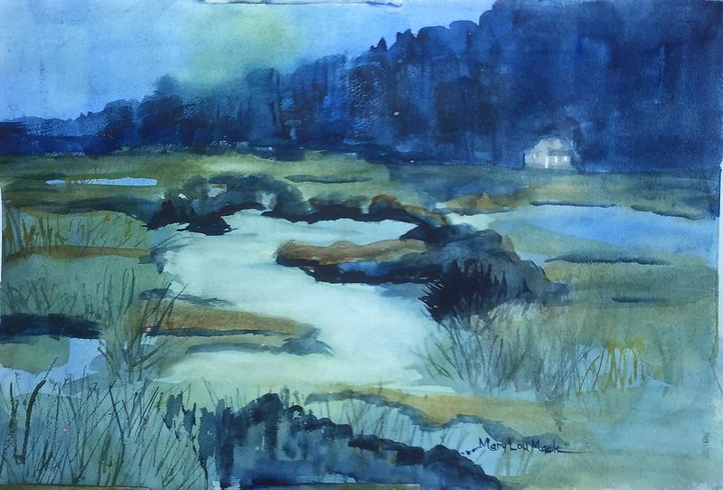 Marshlands At Night