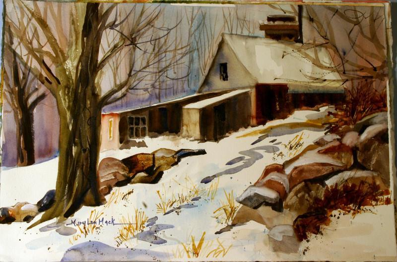 Maple Sugar Farm In Winter
