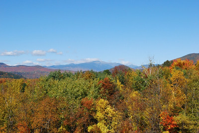 New Hampshire Foliage, View from the Overlook, North Conway, NH