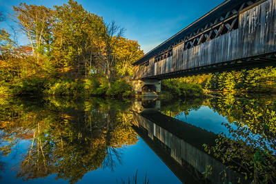 under the River Rd covered bridge Lyme NH