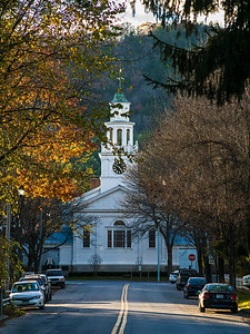 church at end of Pleasant St Woodstock VT