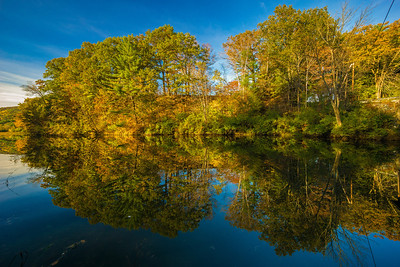 Clay Brook reflections fall New Hampshire