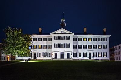 Dartmouth Hall at night