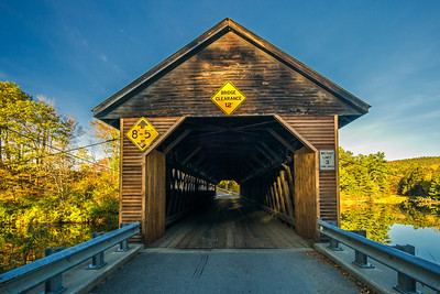 entrance to covered bridge River Rd