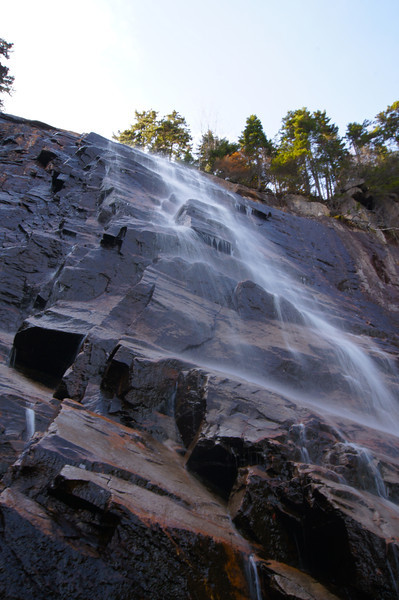 Arethusa Falls, along Bemis Brook in the White Mountain National Forest, New Hampshire, drops about 170 feet.