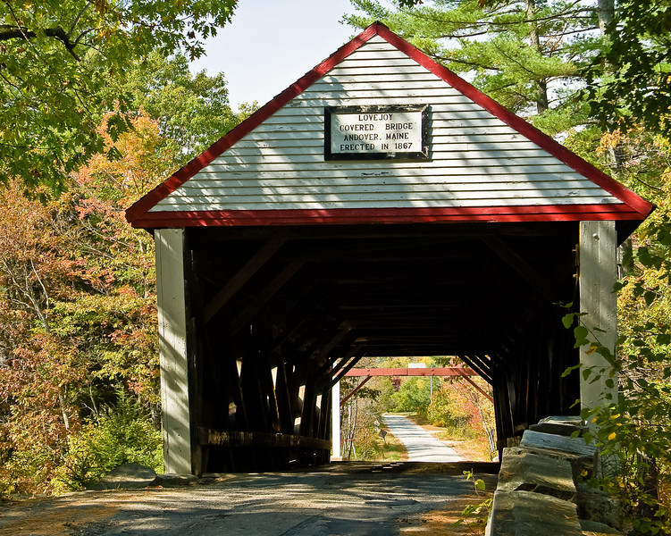 ME-ANDOVER-LOVEJOY COVERED BRIDGE