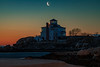MASSACHUSETTS-GLOUCESTER-GOOD HARBOR-GLOUCESTER-Waning Crescent MOON