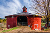 VT-NORTHEAST KINGDOM-BARNET-ROUND BARN