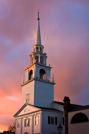 This Unitarian Universalist Church was founded in 1726 and housed in a building erected in 1801 in downtown Newburyport, MA