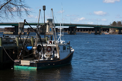Fishing Boat in Harbor on the Merrimack River
