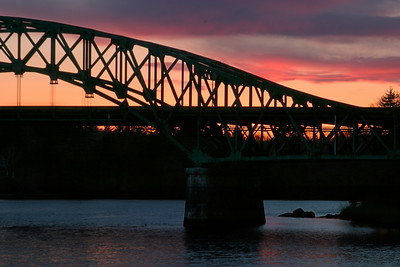 Whittier Bridge at sunset