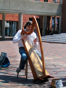 Inn Street harp player