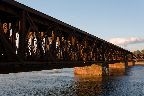 Abandoned Railroad Bridge Across the Merrimack River