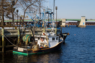 Fishing Boats Docked at the Boardwalk
