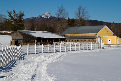 Snow Covered Field, Remick Museum, Tamworth, New Hampshire