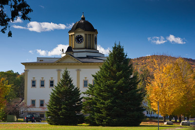 New England Town Hall In Autumn