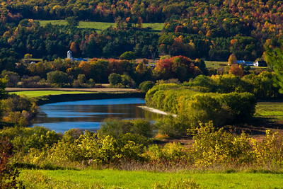 Vermont Countryside along the Connecticut River in Autumn