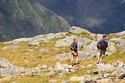 Hikers at the Summit of Mount Washington, New Hampshire
