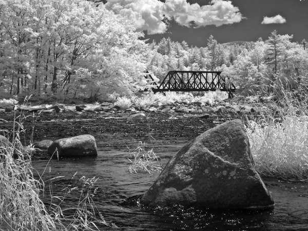 Railroad Bridge over a Mountain River