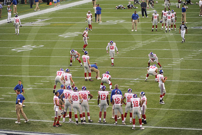 I wonder what alternate universe has me playing quarterback with Eli Manning (#10) as my center? Would that alternate me appreciate what he has?