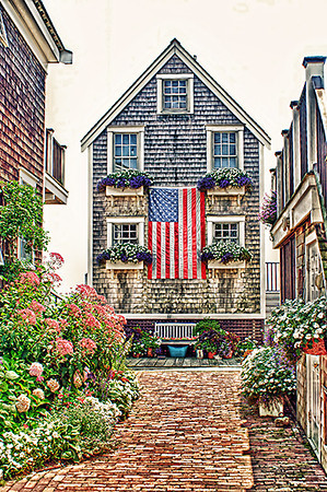 House & Flag In Ptown