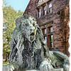 Lion outside Fairbanks Museum & Planetarium