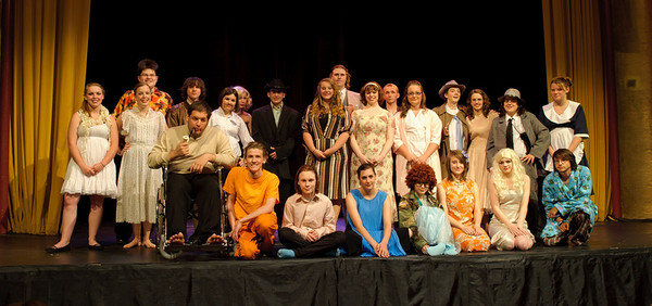 The cast photo, taken immediately after the final performance.