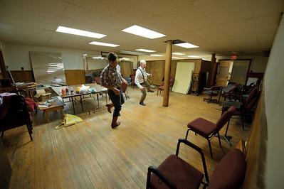 Some last-minute dance practice.