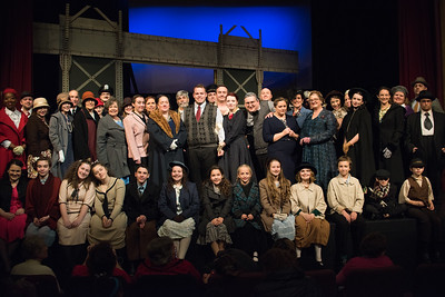 Cast photo, taken right at the end of the performance. I'm pretty sure everyone fit, though just barely.