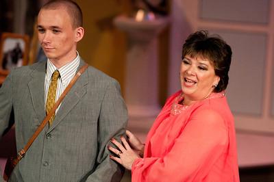 Kyle Adams is Patrick Dennis; Lynn Dadian is Older Belle.