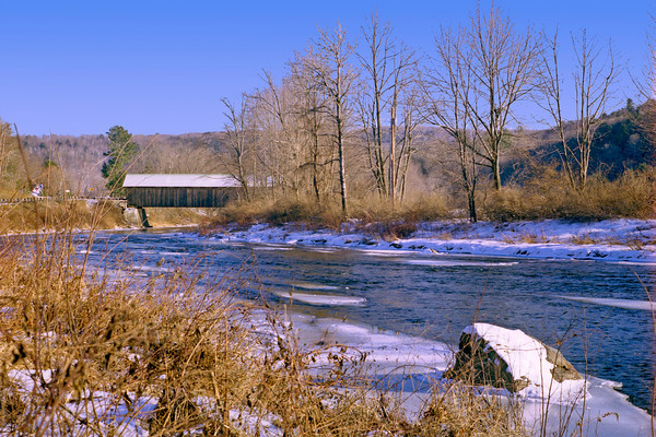 Covered Bridge Near Killington, Vermont