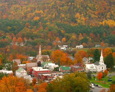 Vermont Village in Autumn