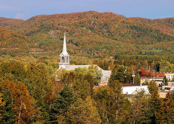 Vermont Village in Autumn