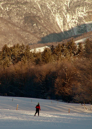 Cross Country Skier in Stowe, Vermont
