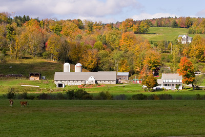 Vermont Barn and Farmhouse in Autumn