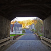 Gilbertville through covered bridge