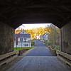 Gilbertville through covered bridge