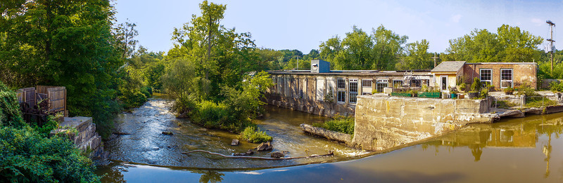 papermill panorama from covered bridge