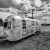Airstream trailer B&W