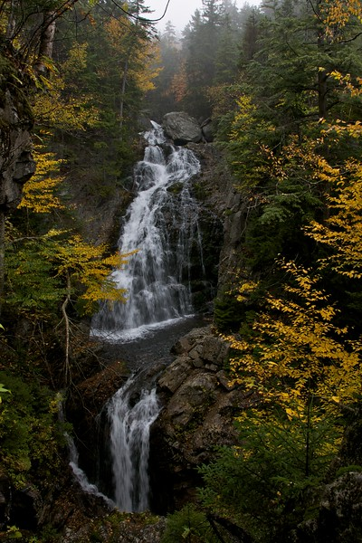 Crystal Cascade falls in fall