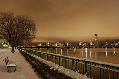 The Charles River, Memorial Drive, Cambridge, Massachusetts