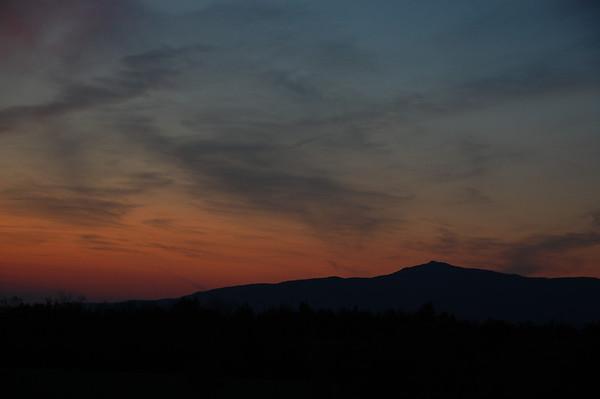 Mt. Monadnock at sunset 2012